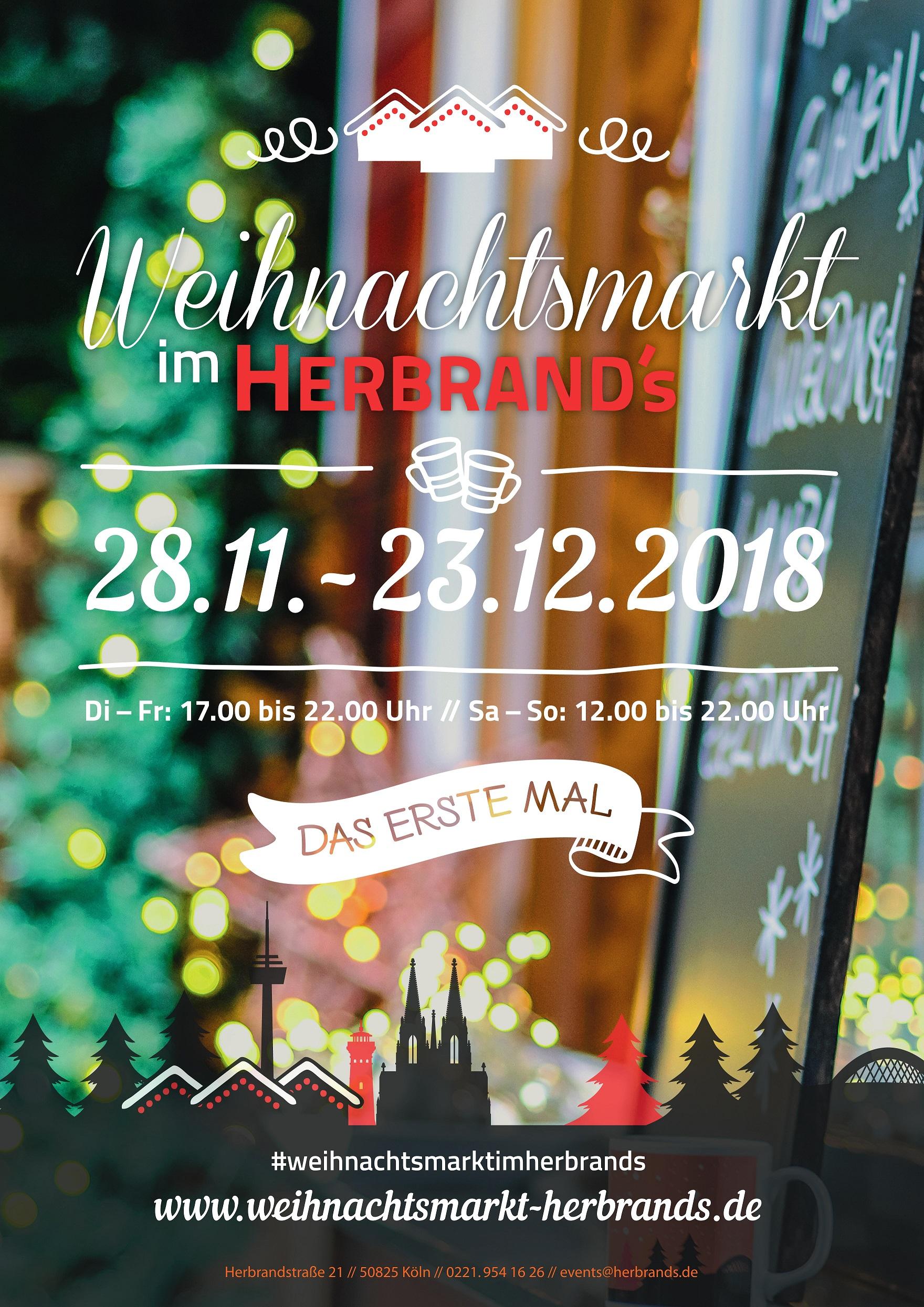 Weihnachtsmarkt Köln Eröffnung 2019.Der Weihnachtsmarkt Im Herbrand S Ist Eröffnet Herbrand S